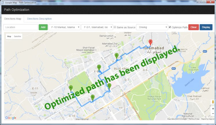 Route Optimisation Code for Android App ( Google map )